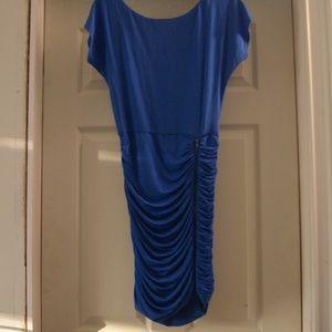 BEBE boatneck side zipper dress XS